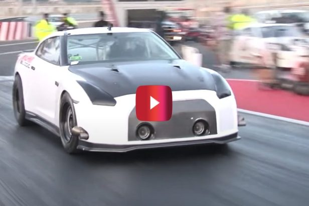 Nissan GT-R Hits 232 MPH in Drag Strip Domination