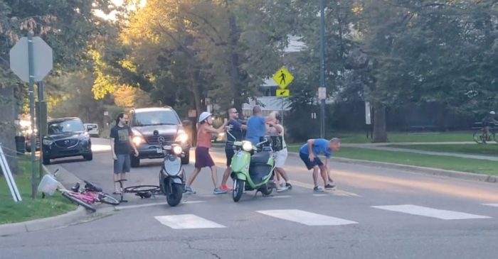 WATCH: Scooter Road Rage Fight With Cyclist Makes Everyone Look Stupid