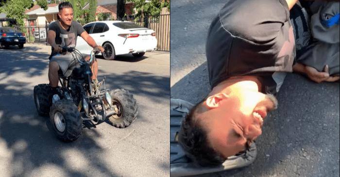 "Guy Who Calls Himself ""The Wheelie King"" Bites It Big Time"