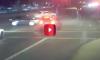 couple pushing stroller narrowly avoids car crash