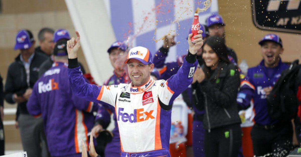 Chaos at Kansas: Denny Hamlin Wins Drama-Filled NASCAR Cut-off Race