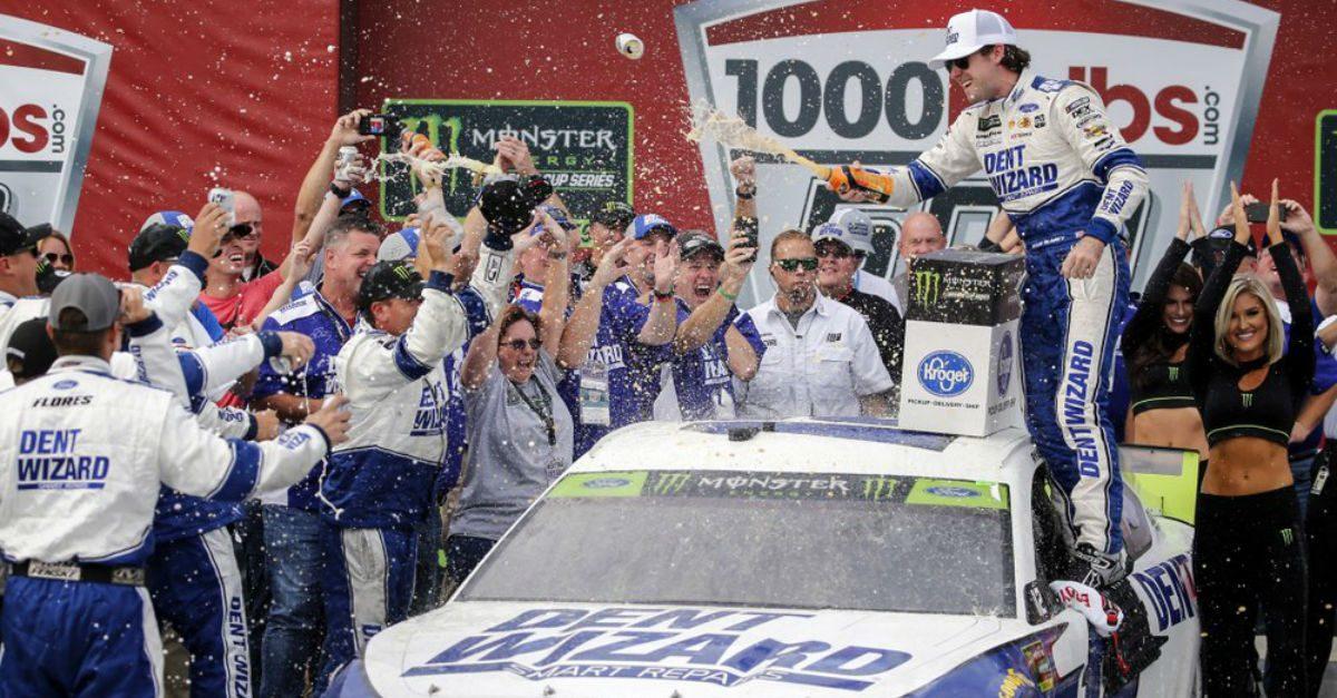 Ryan Blaney Advances in NASCAR Playoffs With Wild Photo-Finish Win at Talladega