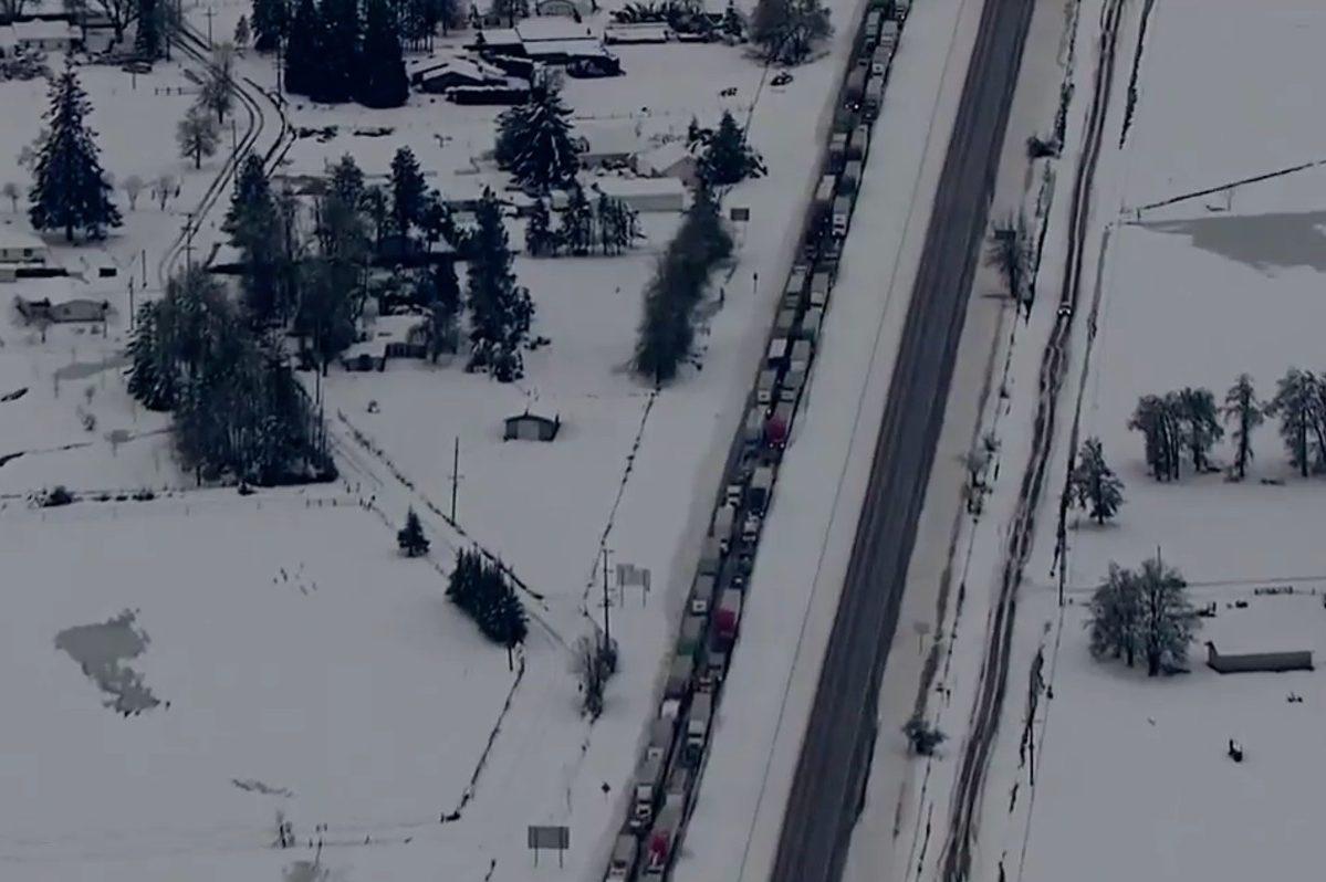 115-mile winter traffic jam in oregon