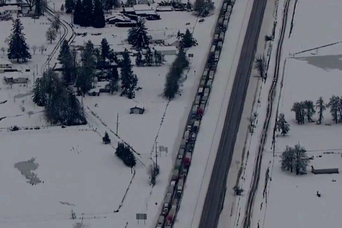 Severe Winter Storm Causes 115-Mile Traffic Jam