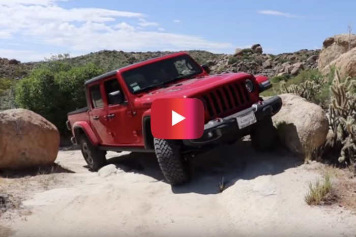 Jeep Gladiator Conquers California Trail During Test Drive