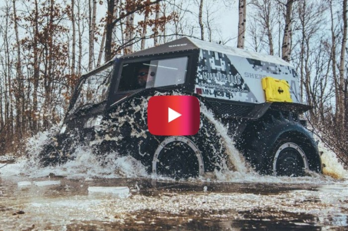 Sherp ATV Shows Its Off-Roading Capabilities in Test Drive