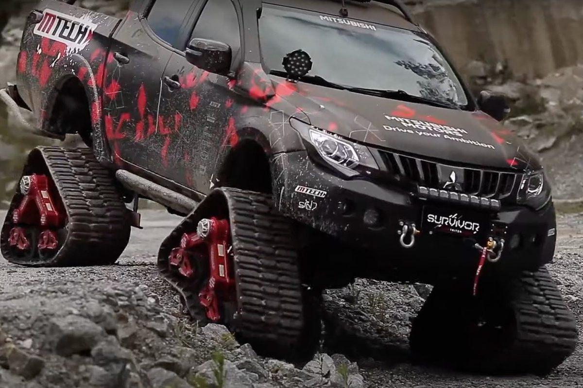 mattracks on Mitsubishi L200 Triton Sport Survivor