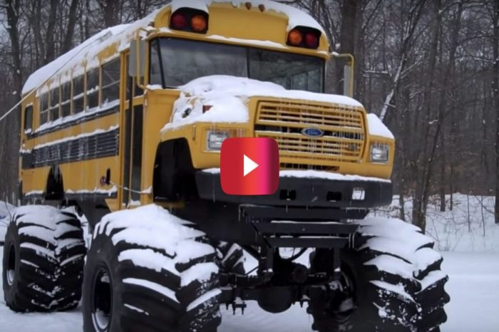 With a School Bus Like This, There Are No Snow Days