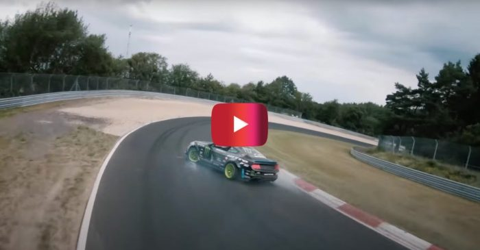 900-HP Ford Mustang Drifts 12.9-Mile Track for Historic Stunt