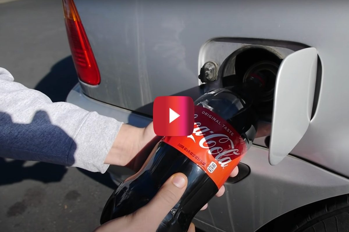 coca cola in gas tank