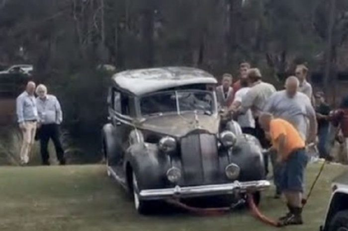 Expensive '38 Packard Rolls Into Lagoon Seconds After Winning Award