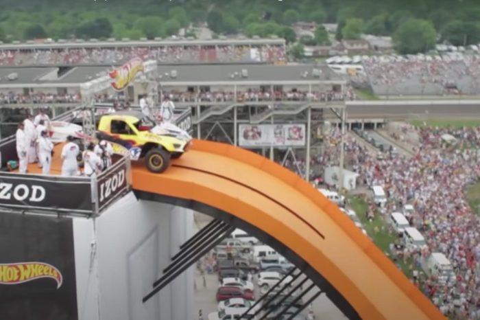 Stunt Driver Flies 332 Feet in Hot Wheels Truck for World Record Jump