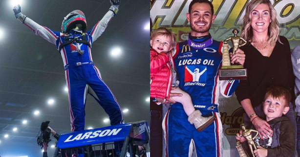 Kyle Larson Wins First Chili Bowl, Ends 0-12 Losing Streak