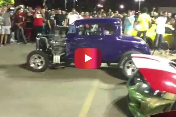 V8 Hot Rod Dominates Car Show