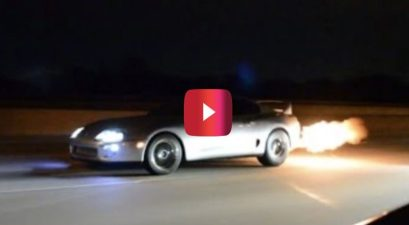 1,000-hp supra in street race