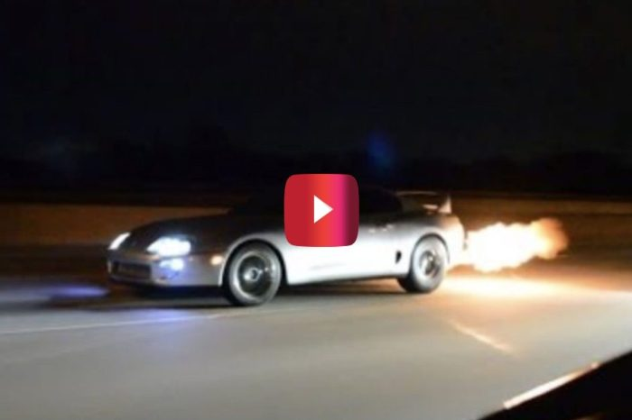 1,000-HP Supra Smokes Mustang and Corvette in Street Race