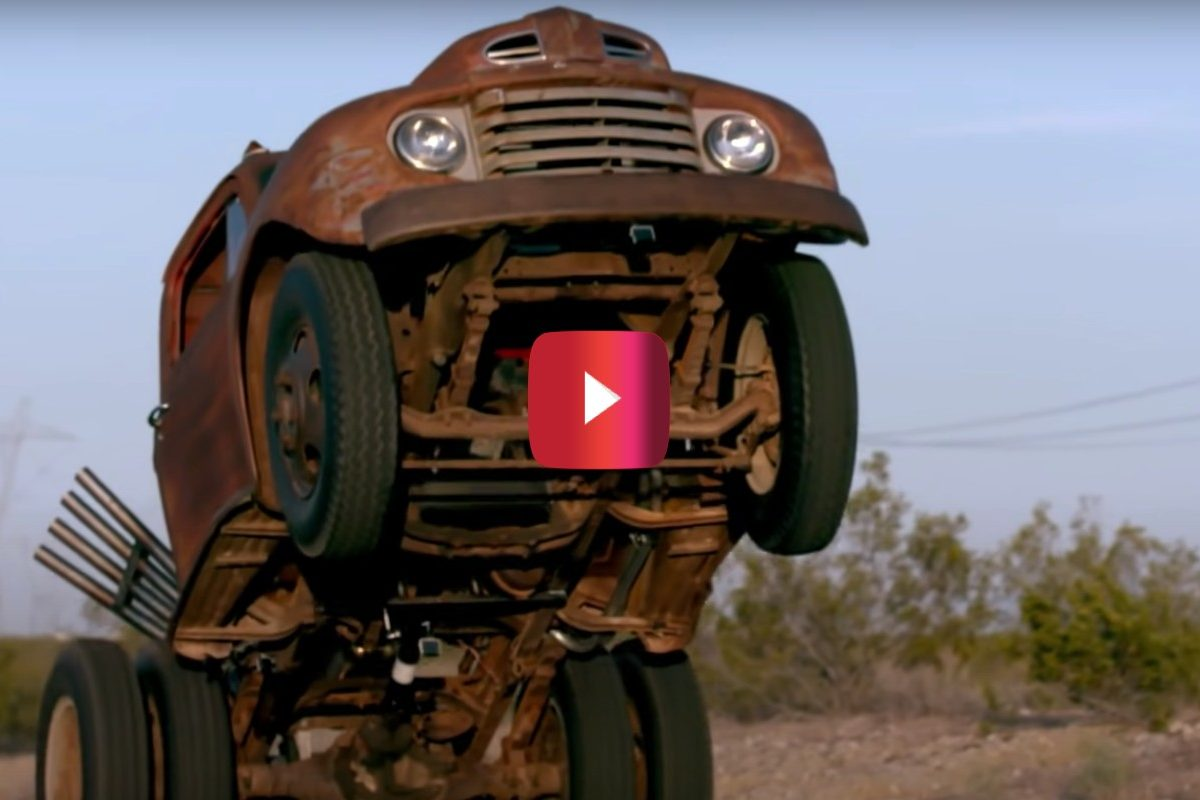'50 ford truck does wheelies