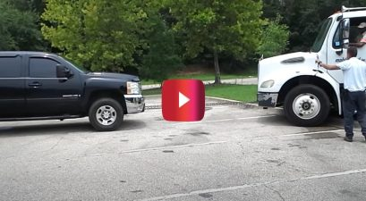 chevy silverado with duramax v8 tows freightliner