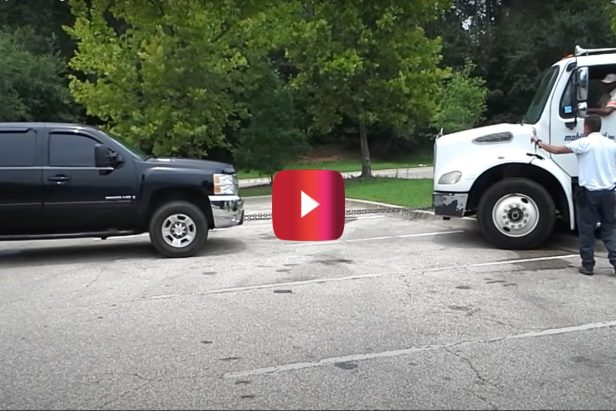 Chevy Silverado With Duramax V8 Pulls Stuck Freightliner