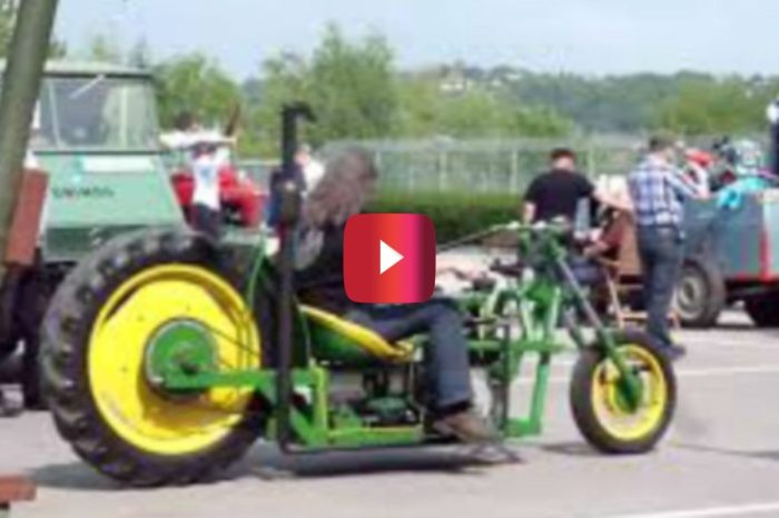 This Custom John Deere Chopper Is a Countrified Beauty