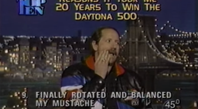 dale earnhardt on letterman