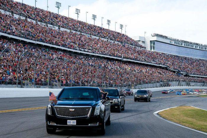 "Donald Trump Takes Daytona 500 Warmup Lap in Armored ""Beast"" Limo"