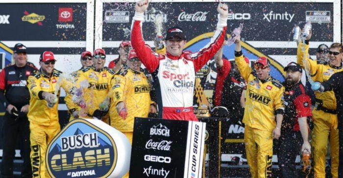 Erik Jones Wins Chaotic, Crash-Filled Busch Clash at Daytona
