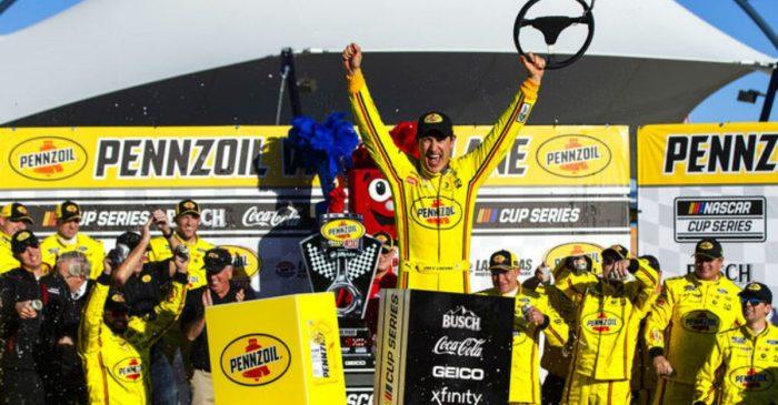 Joey Logano Wins Second Straight Las Vegas Race Despite Botched Pit Stop
