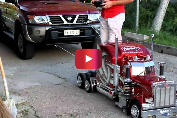 RC Semi Truck vs. Nissan SUV