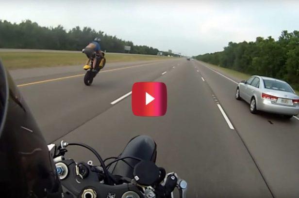 100 MPH Wheelie Attempt Ends in Wild Crash