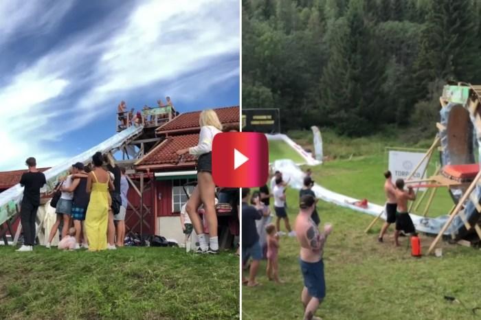 Biggest Homemade Slip 'N Slide Takes Backyard Fun to the Extreme