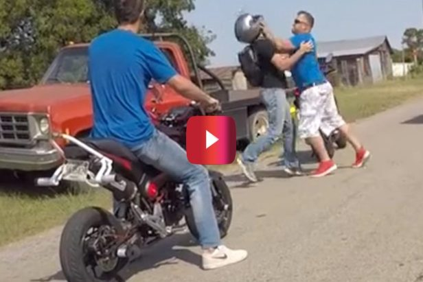 Truck Cuts Off Bikers, and Then the Fists Started Flying
