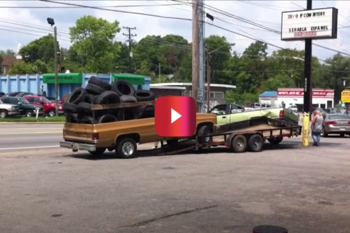 Trailer Loading Fail Damages Dodge & Bruises a Few Egos