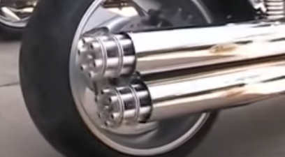 gatling gun motorcycle exhaust