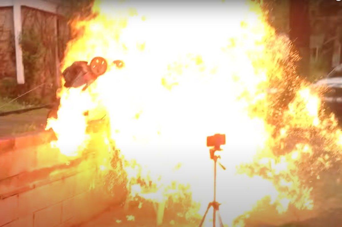 lawnmower explosion