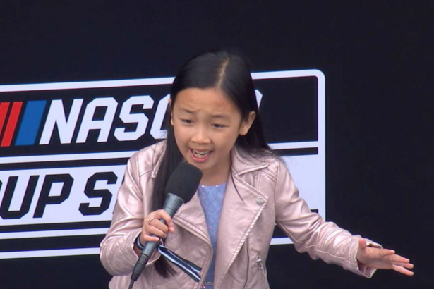 8-Year-Old Girl Belts Out the National Anthem Before NASCAR Race