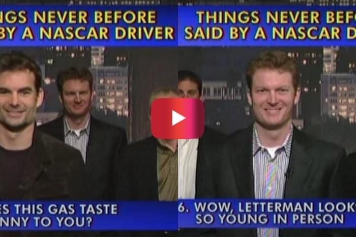 "Jeff Gordon, Dale Jr. Joke Around in ""Late Show"" Top 10 Segment"