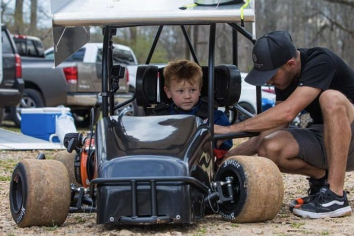 Kyle Larson's 5-Year-Old Son Goes Racing for the First Time