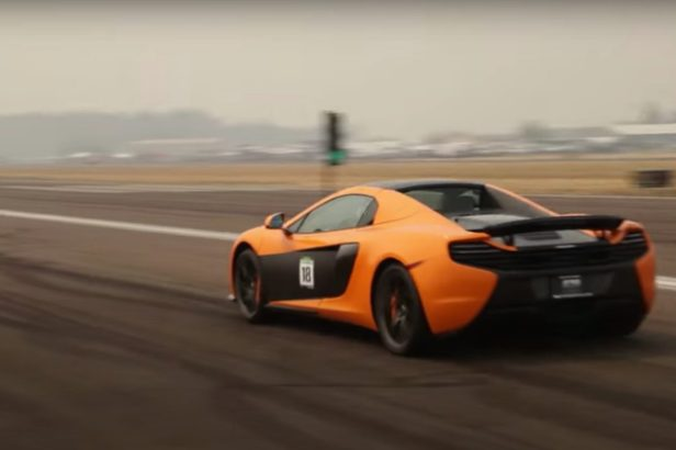 12-Year-Old Boy Races McLaren 650s on Airstrip, Hits 160 MPH