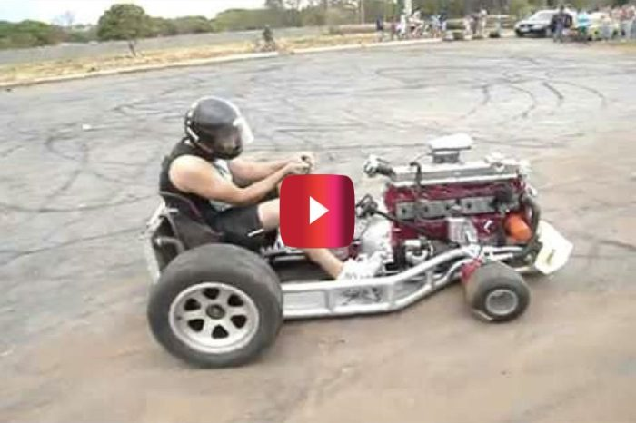 Go-Kart With 6-Cylinder Engine Is Absolutely Out of Control