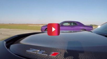 Hellcat Challenger vs ZL1 Camaro Roll-on Race