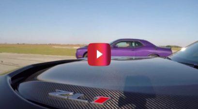 Hellcat Challenger vs ZL1 Camaro Roll-on Race