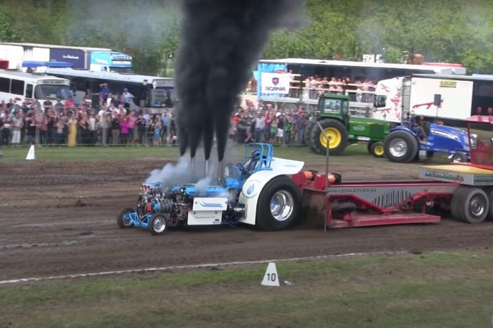 4,000-HP Machine Dominates Tractor Pulling Contest