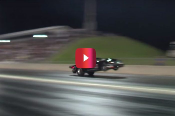 Drag Racer in Twin-Turbo Mustang Hits 196 MPH on Rear Wheels