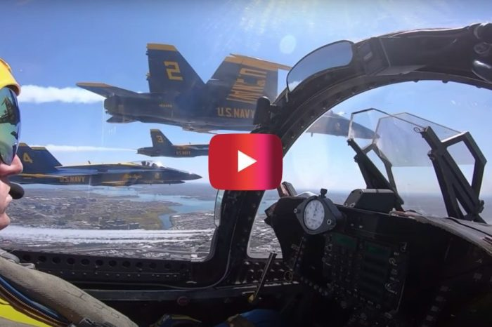 "A Blue Angels Cockpit View of ""Operation America Strong"" Flyover"