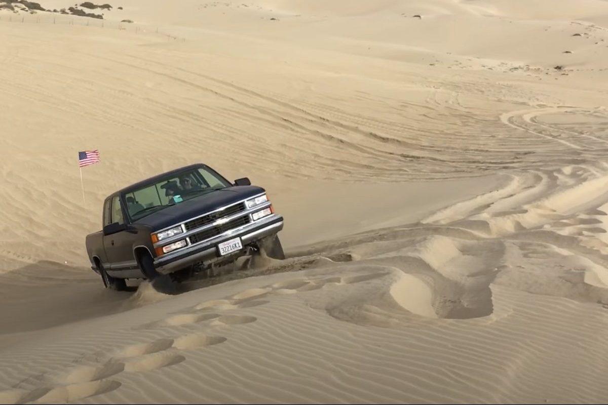 chevy silverado off-roading sand dunes