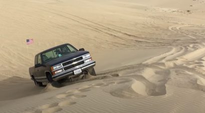 chevy silverado off-roading sand dunes