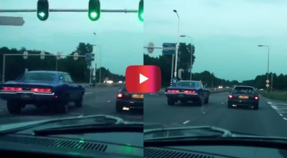 dodge charger vs. honda civic street race