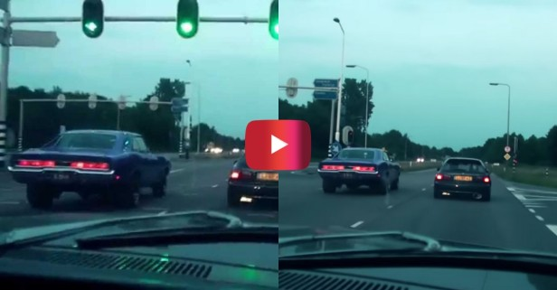 '70 Dodge Charger vs. Honda Civic in Street Race