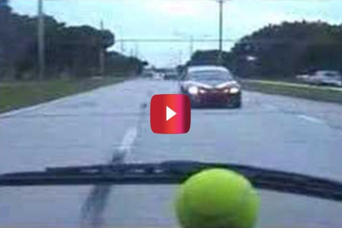 Driver Unleashes Tennis Ball on Tailing Car
